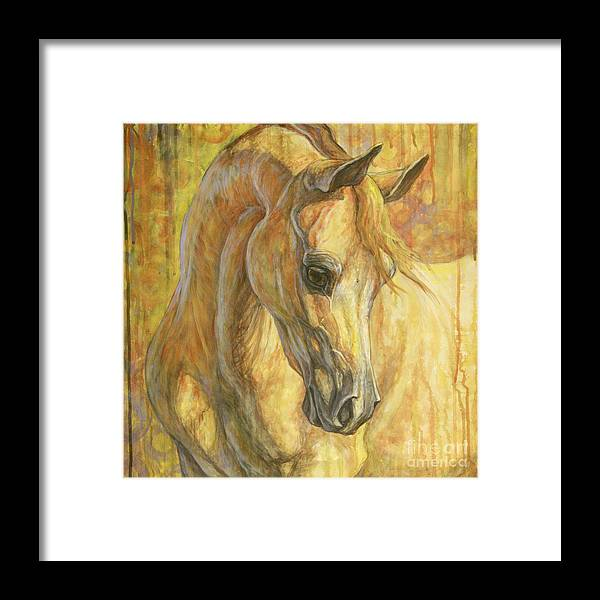 Horse Framed Print featuring the painting Gentle Spirit by Silvana Gabudean Dobre
