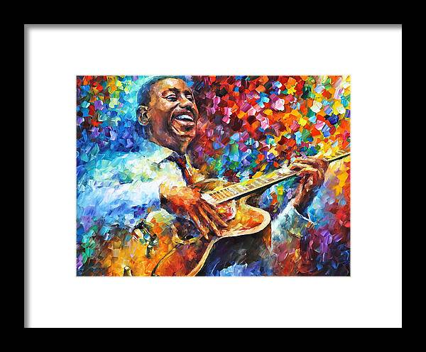 George Benson Framed Print featuring the painting Wes Montgomery by Leonid Afremov