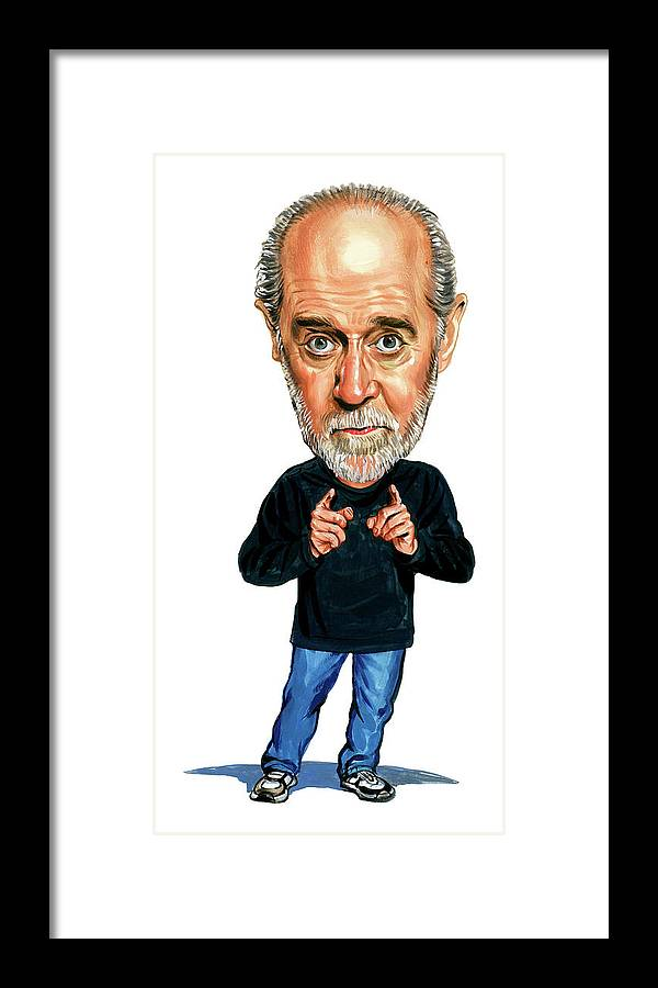 George Carlin Framed Print featuring the painting George Carlin by Art