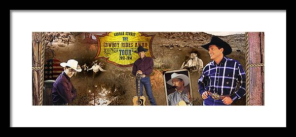 George Strait Framed Print featuring the photograph George Strait Cowboy Rides Away by Retro Images