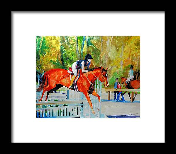 Horse Framed Print featuring the painting Germantown Jumper by Ron Lace