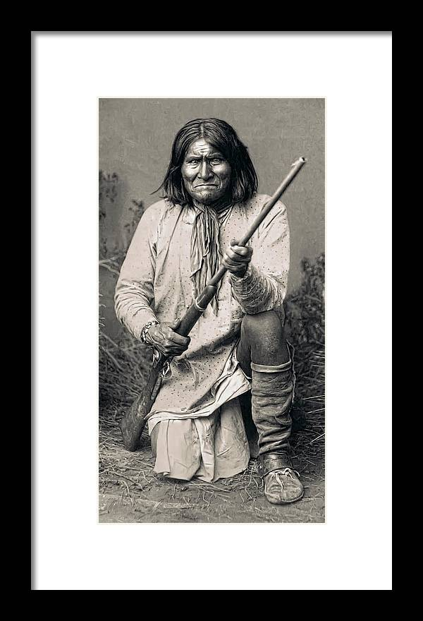 Geronimo Framed Print featuring the photograph Geronimo - 1886 by Daniel Hagerman
