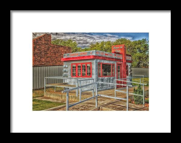 Diner Framed Print featuring the photograph Get Your Kicks.... by Tricia Marchlik