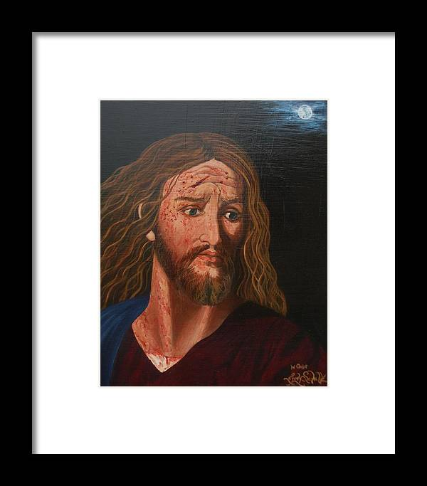 Catholic Framed Print featuring the painting Gethsemene by Judy Lynn Wheeler