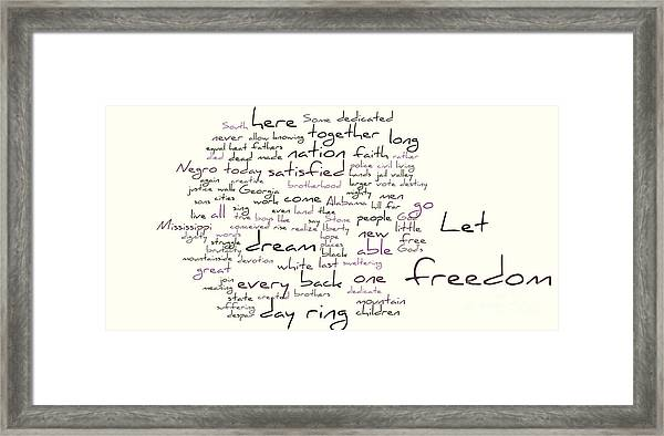 photo relating to Gettysburg Address Printable known as Gettysburg Protect And I Contain A Aspiration Framed Print