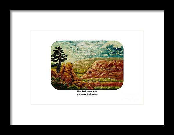 Relief Framed Print featuring the painting Ghost Ranch Summer by ArSpirare by Antonius