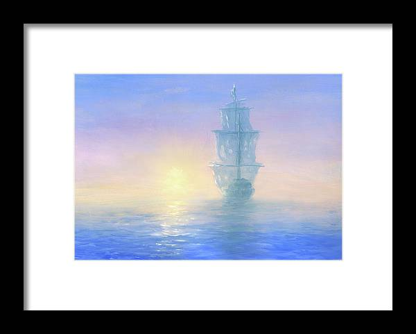 Art Framed Print featuring the digital art Ghost Ship by Pobytov