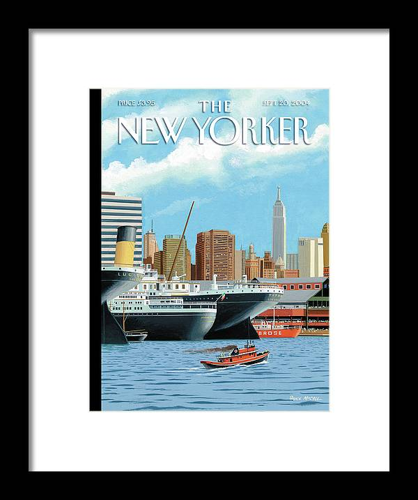 American History Framed Print featuring the painting Ghost Ships by Bruce McCall
