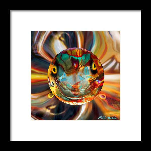 Moths Framed Print featuring the painting Ghosted Polyphemus Moth by Robin Moline