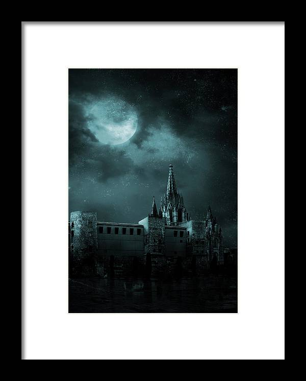Gothic Style Framed Print featuring the photograph Ghosts In The Empty Town by Vladgans
