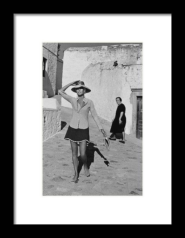 Accessories Framed Print featuring the photograph Ginette Camo In Patmos by Henry Clarke