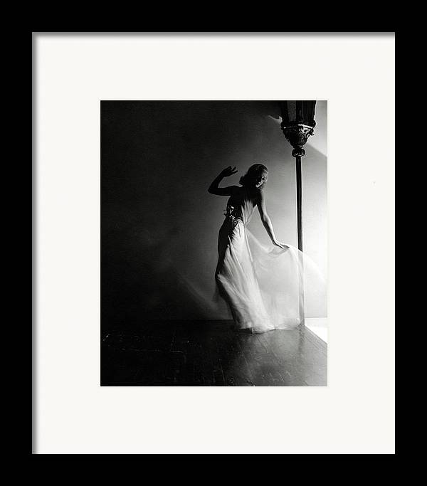 Dance Framed Print featuring the photograph Ginger Rogers Wearing An Evening Gown by Horst P. Horst
