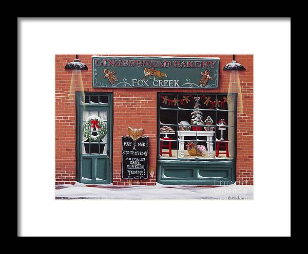 Art Framed Print featuring the painting Gingerbread Bakery At Fox Creek by Catherine Holman