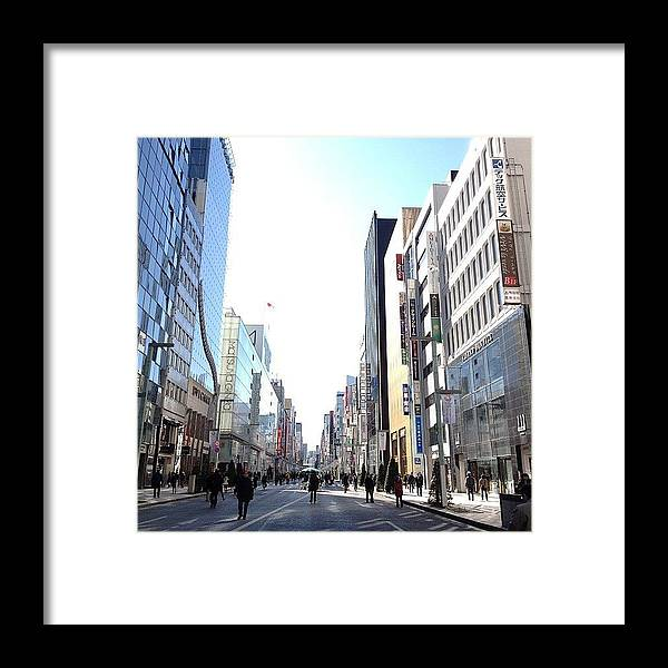 Ginza Framed Print featuring the photograph #ginza#tokyo by Tokyo Sanpopo