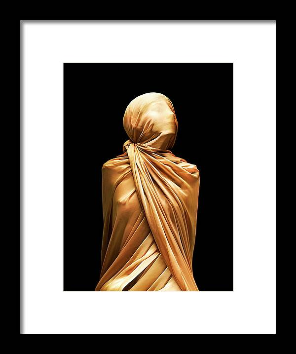 Punishment Framed Print featuring the photograph Girl Boundcovered In Silk by Peter Dazeley