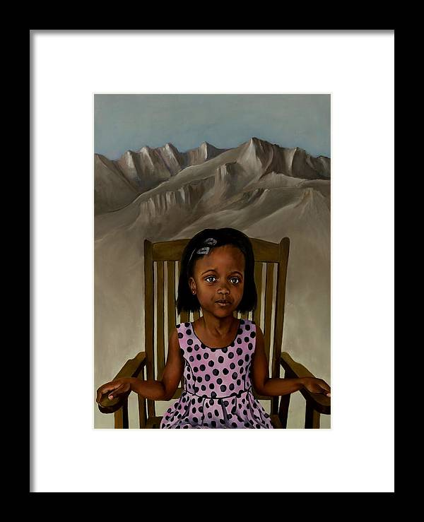 Girl Framed Print featuring the painting Girl From The Mountain Kingdom by Jolante Hesse