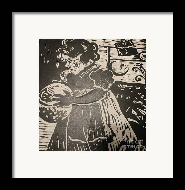 Lino Framed Print featuring the painting Girl's Play by PainterArtist FINs husband Maestro