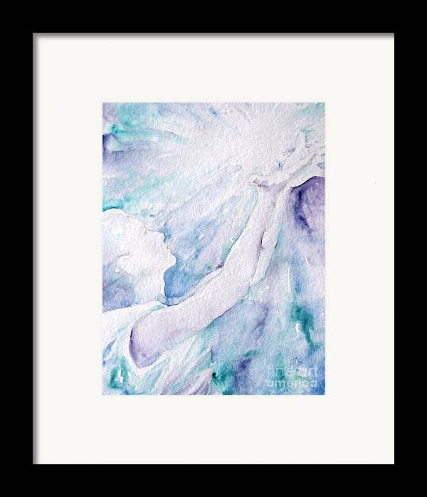 People Framed Print featuring the painting Give And Receive by Jennifer Apffel