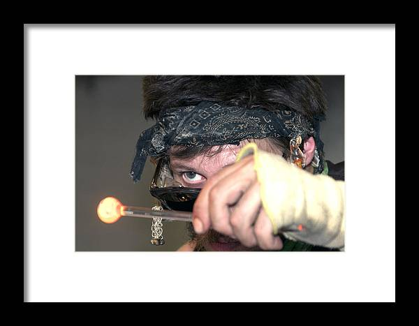 Glass Blowing Framed Print featuring the photograph Giving It The Eye by Jason Standiford