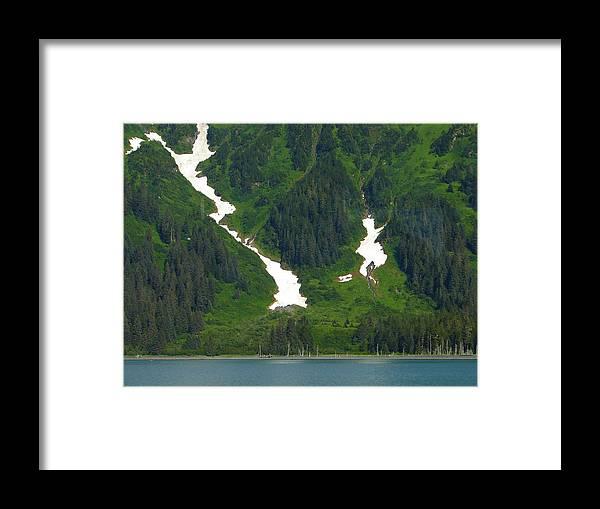 Alaska Framed Print featuring the photograph Glacier 16 by Lew Davis
