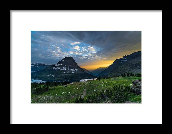 Glacier Framed Print featuring the photograph Glacier National Park 3 by Larry Marshall