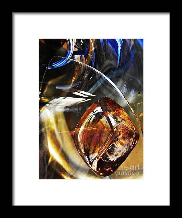 Abstract Framed Print featuring the photograph Glass Abstract 476 by Sarah Loft