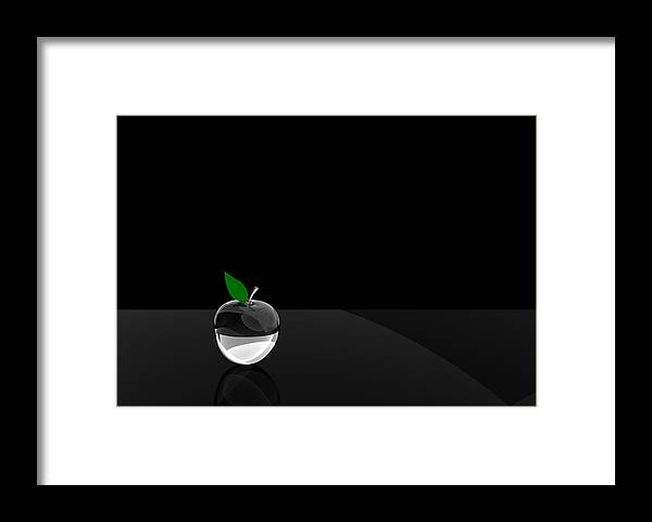Glass Framed Print featuring the digital art Glass Apple by Paul McManus