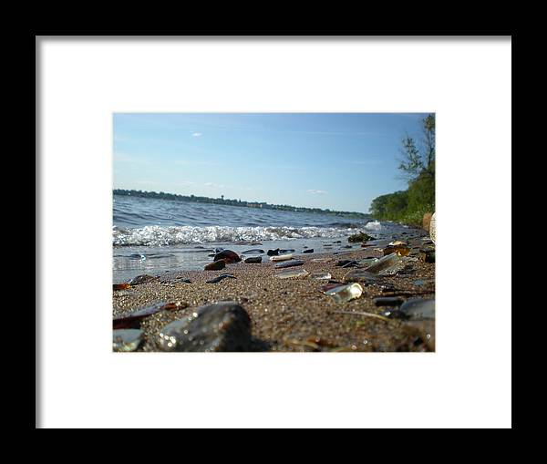 Glass Beach Framed Print featuring the photograph Glass Beach by Patricia Trudell