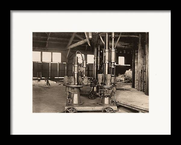 Machine Framed Print featuring the photograph Glass-blowing Machine, 1908 by Science Photo Library