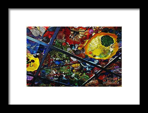 Glass Framed Print featuring the photograph Glass Ceiling Abstract by Valerie Garner
