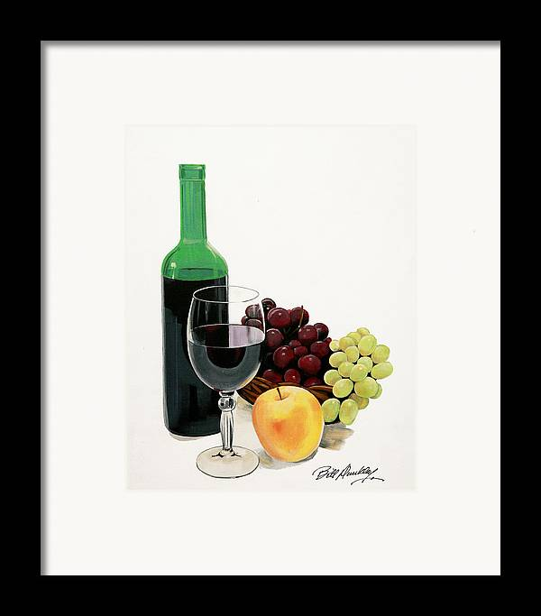 Still Life Painting Framed Print featuring the painting Glass Half Full by Bill Dunkley