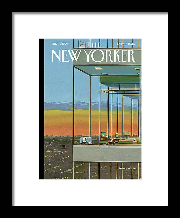 Television Framed Print featuring the painting Glass Houses by Bruce McCall