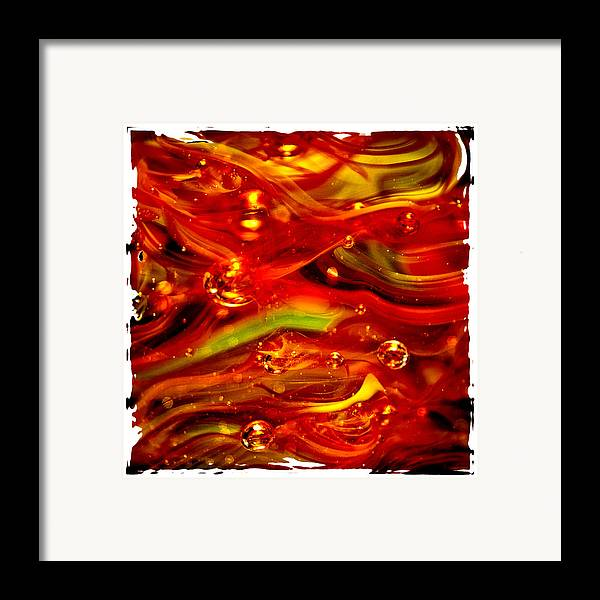 Glass Framed Print featuring the photograph Glass Macro Abstract Rf1ce by David Patterson