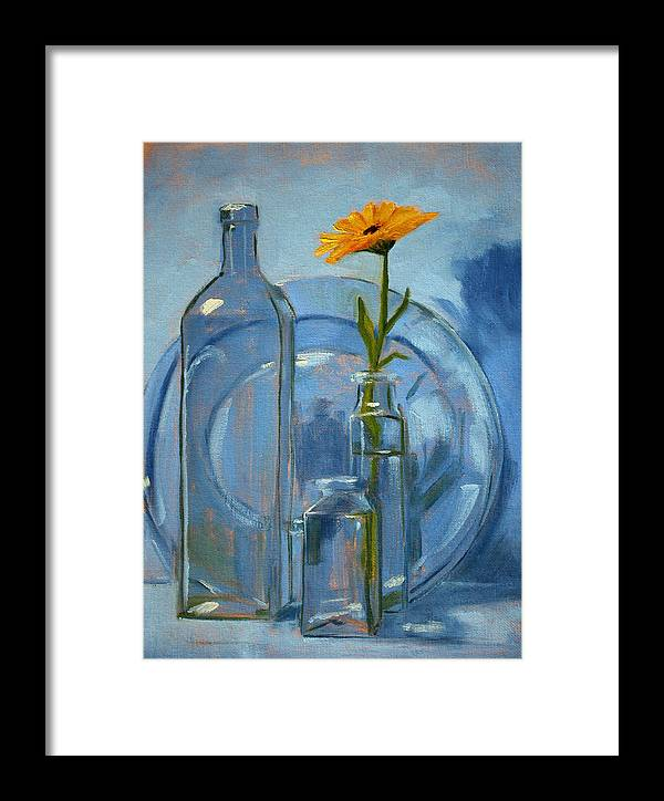 Glass Framed Print featuring the painting Glass by Nancy Merkle