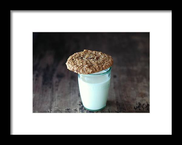 Milk Framed Print featuring the photograph Glass Of Milk by Shawna Lemay