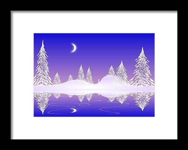 Cool Framed Print featuring the digital art Glass Winter by Anastasiya Malakhova