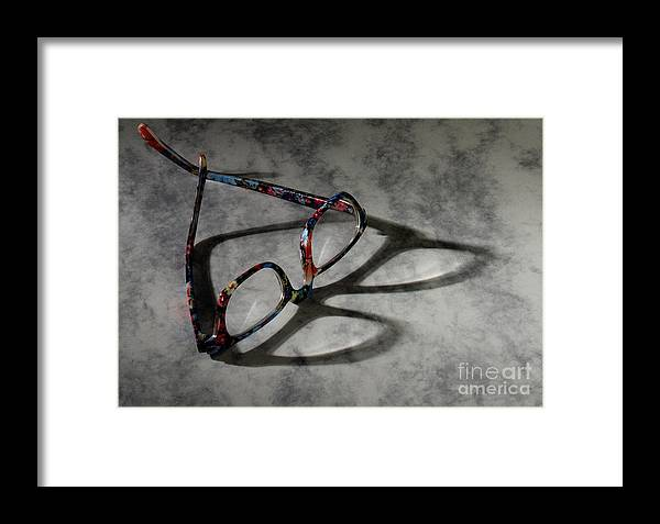 Glasses Framed Print featuring the photograph Glasses 1b by Gary Gingrich Galleries