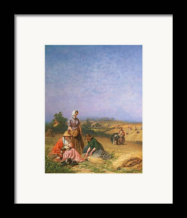 Children Framed Print featuring the painting Gleaning by George Elgar Hicks