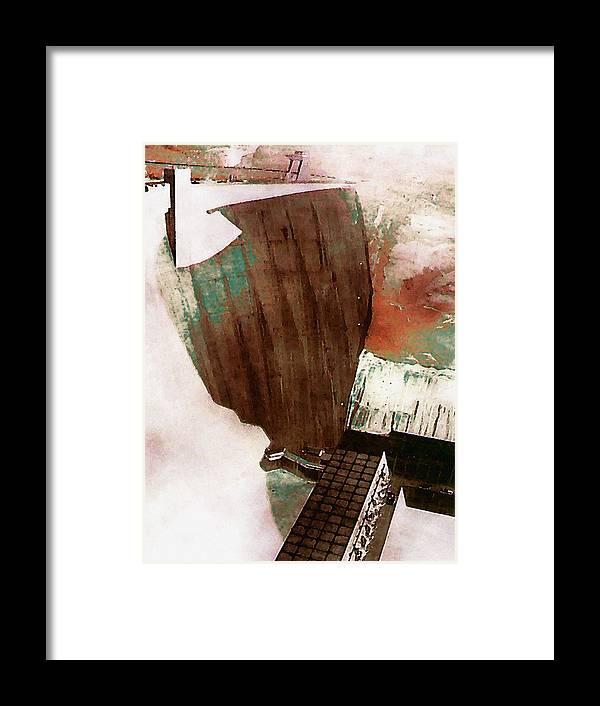 Digital Framed Print featuring the digital art Glen Canyon Dam by David Hansen