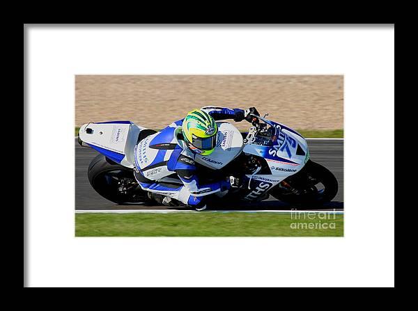 Motorbikes Framed Print featuring the photograph Glen Richards by Richard Norton Church