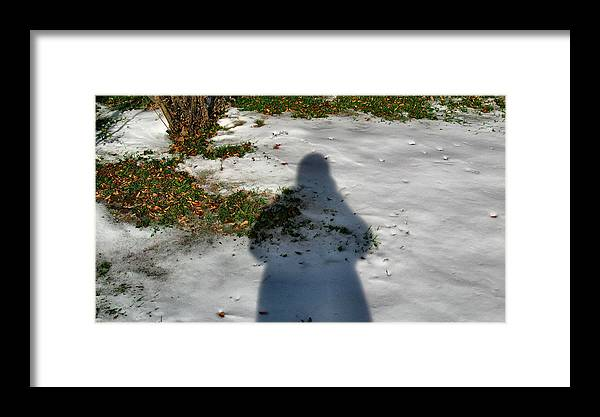 Shadow Framed Print featuring the photograph Glennshadowcomp 2009 by Glenn Bautista