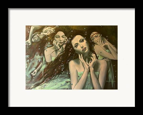 Art Framed Print featuring the painting Glissando by Dorina Costras