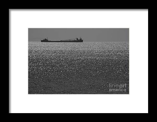 Barge Framed Print featuring the photograph Glitter Liner by Kelly Morrow