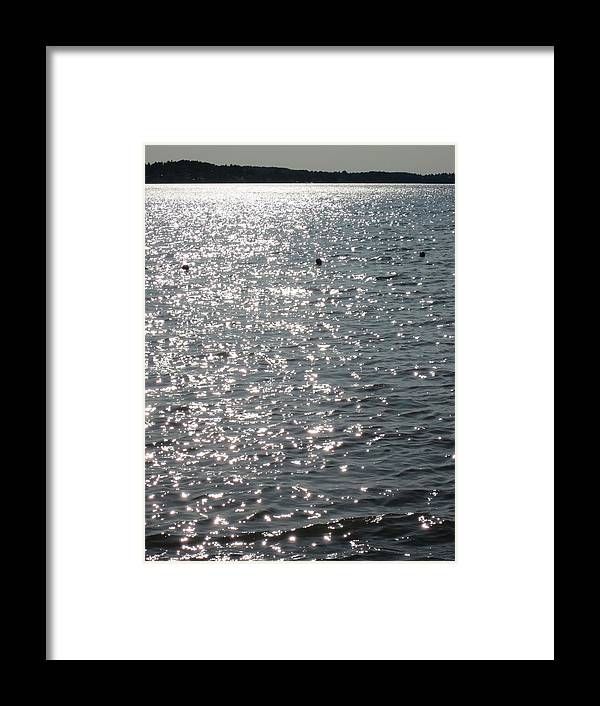 Water Framed Print featuring the photograph Glittering by Rosita Larsson