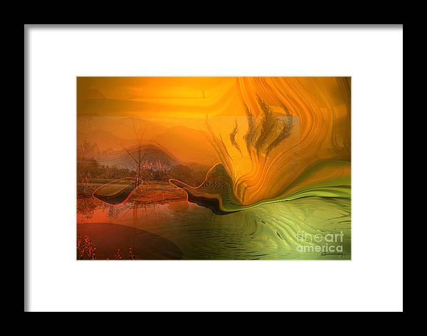 Organical Framed Print featuring the painting Global Warming by Christian Simonian