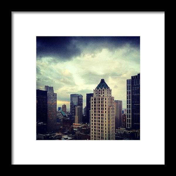 Chicago Framed Print featuring the photograph Gloomy Day Out There by Jill Tuinier