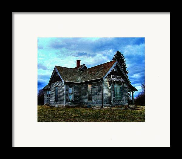 Old Abandoned Framed Print featuring the photograph Glory Days Gone By by Julie Dant