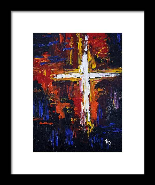 Cross Framed Print featuring the painting Glory Glory by Michael Greeley