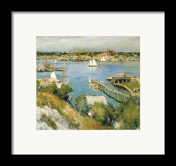 William Leroy Metcalf Framed Print featuring the painting Gloucester Harbour by William Leroy Metcalf