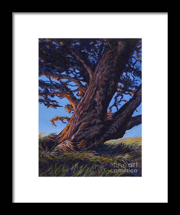 Landscape Framed Print featuring the painting Glow by Betsee Talavera